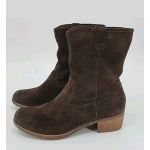 Ugg Brown Suede Rioni Mid Boot 9.5